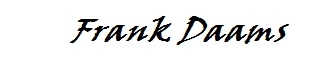 Handtekening Frank Daams